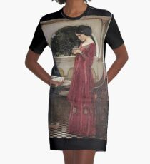 John William Waterhouse - The Crystal Ball Graphic T-Shirt Dress