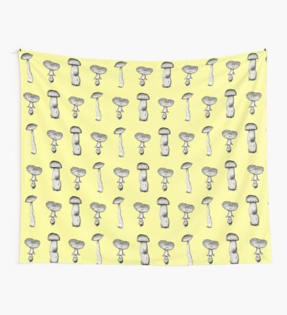 Mushroom Family Wall Tapestry