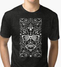 barbershop icons calavera Tri-blend T-Shirt