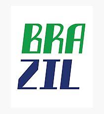 Brazil Fans Photographic Print