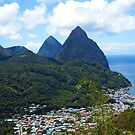 The Pitons, St. Lucia by Kurt  Van Wagner