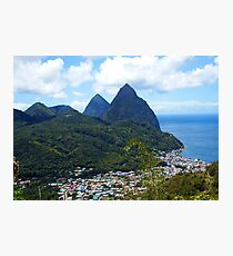 The Pitons, St. Lucia Photographic Print