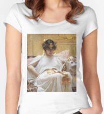 John William Waterhouse - Cleopatra Women's Fitted Scoop T-Shirt