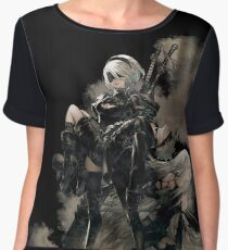 Nier: Automata Black Women's Chiffon Top