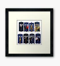 Doctor Who - Doctors & Tardises Framed Print