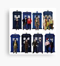 Doctor Who - Doctors & Tardises Canvas Print