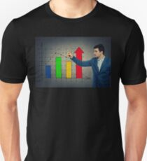 Business growth graph Unisex T-Shirt