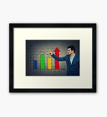 Business growth graph Framed Print