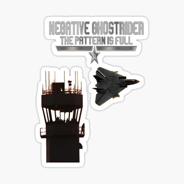 Negative Ghostrider Top Gun Fly by Sticker