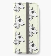 Bullterrier tatoué Étui portefeuille/coque/skin iPhone