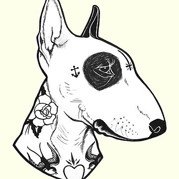 Bullterrier tatuado de PaperTigressArt