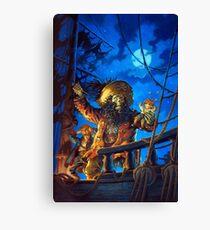 Monkey Island - LeChuck - Guybrush Threepwood - The Secret of Monkey Island - Le Chuck Canvas Print