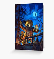 Monkey Island - LeChuck - Guybrush Threepwood - The Secret of Monkey Island - Le Chuck Greeting Card