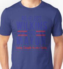 BUFFY The Vampire Slayer Re-Elect MAYOR WILKINS Scooby Gang Big Bad  Unisex T-Shirt