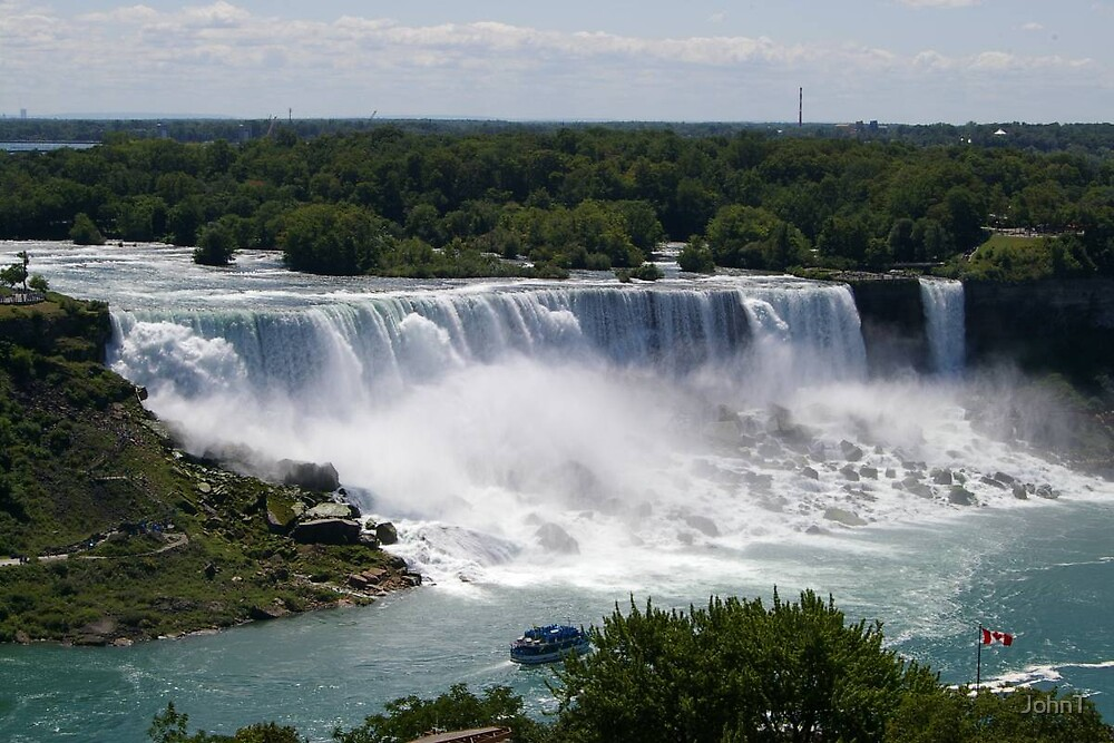 Niagra Falls from Canada by JohnT
