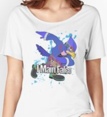I Main Falco (Purple Alt.) - Super Smash Bros. Women's Relaxed Fit T-Shirt