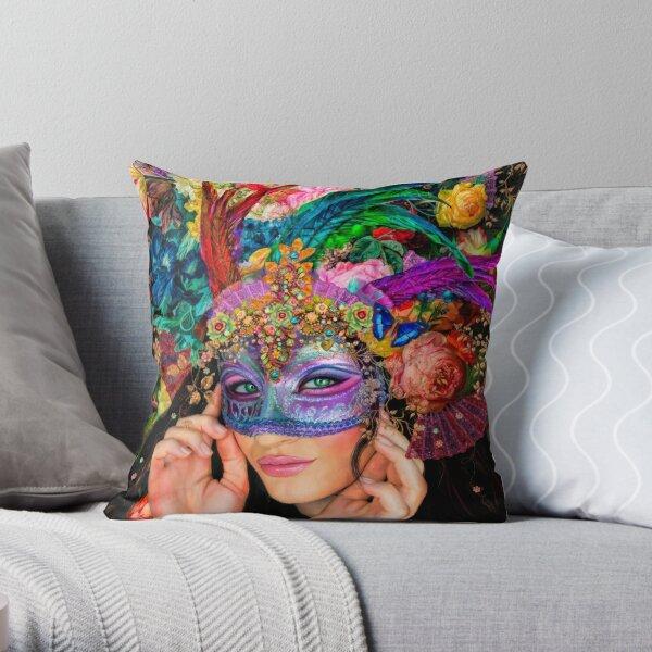 The Mascherari's Muse Throw Pillow
