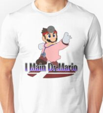 I Main Dr.Mario (Red alt.) - Super Smash Bros Melee Unisex T-Shirt
