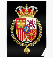 King of Spain Coat of Arms Poster