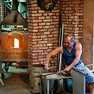 Glass Blower in Murano by dbvirago