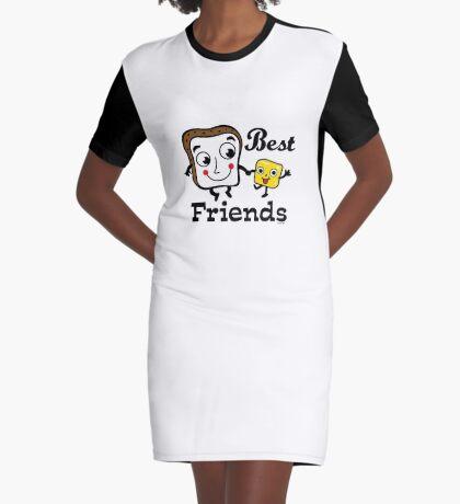 "Bread and Butter ""Best Friends""  Graphic T-Shirt Dress"