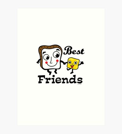 "Bread and Butter ""Best Friends""  Art Print"
