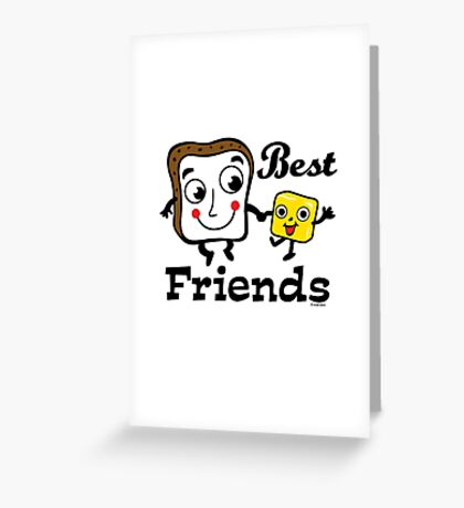 """Bread and Butter """"Best Friends""""  Greeting Card"""
