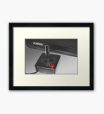 Atari 2600 black & white Framed Print