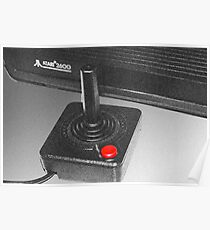 Atari 2600 black & white Poster