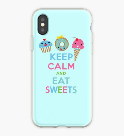 Keep Calm and Eat Sweets 2 iPhone Case