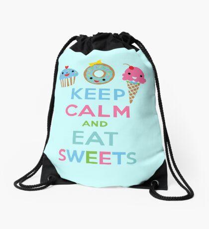 Keep Calm and Eat Sweets 2 Drawstring Bag