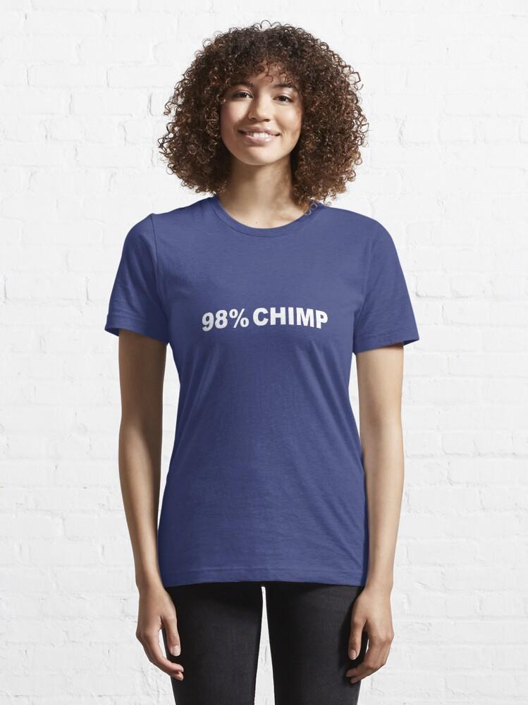 Alternate view of 98% Chimp Essential T-Shirt