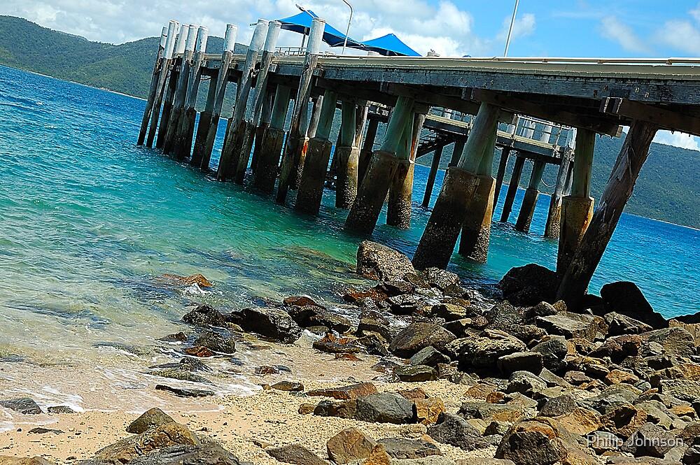 On The Rocks - Day Dream Island, Queensland Australia by Philip Johnson