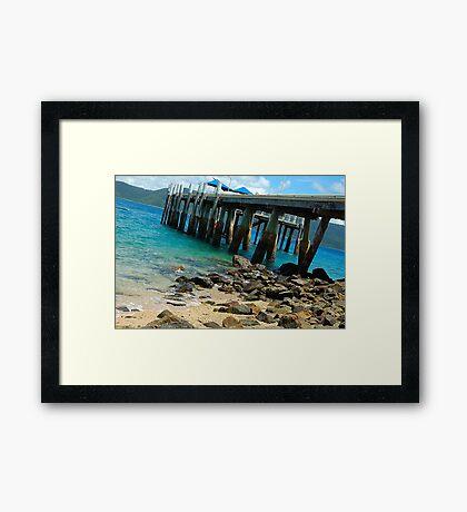 On The Rocks - Day Dream Island, Queensland Australia Framed Print