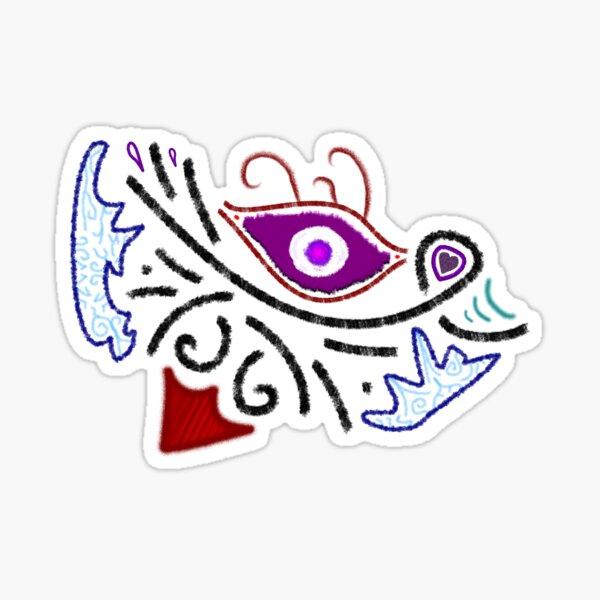 M.I. #1 |☼| Rustic Tribal Cyclops Insignia Sticker