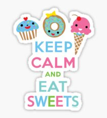 Keep Calm and Eat Sweets      Sticker