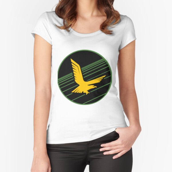 Golden Eagle Squadron of the IDF Patch Fitted Scoop T-Shirt