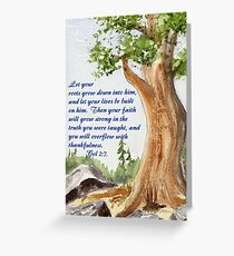 Strong Roots - Colossians 2:7 Greeting Card