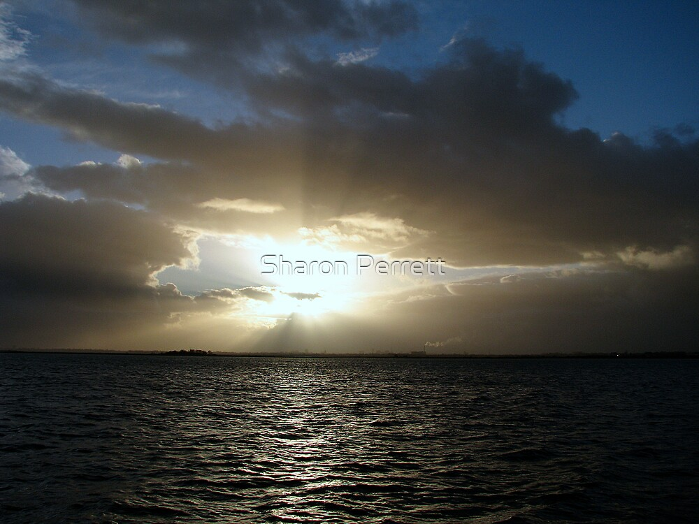 Stormy Sunset 11-01-08 by Sharon Perrett