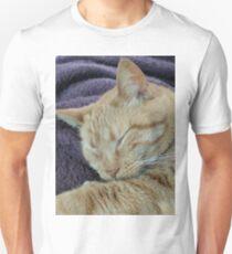 Sleeping orange tabby cat Unisex T-Shirt