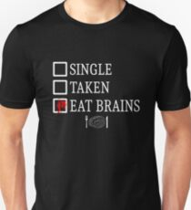 Eat brains - white Unisex T-Shirt