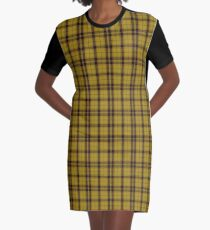 Mac Leod, yellow black Clan | Scottish Tartan #home #lifestyle Graphic T-Shirt Dress