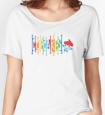 Retro Cupcakes - on lights Women's Relaxed Fit T-Shirt