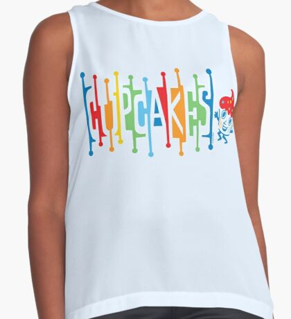 Retro Cupcakes - on lights Contrast Tank
