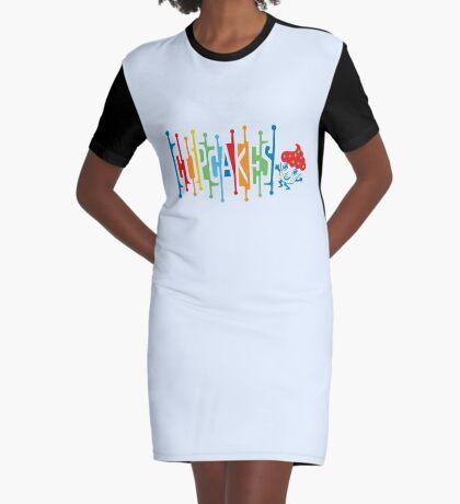Retro Cupcakes - on lights Graphic T-Shirt Dress