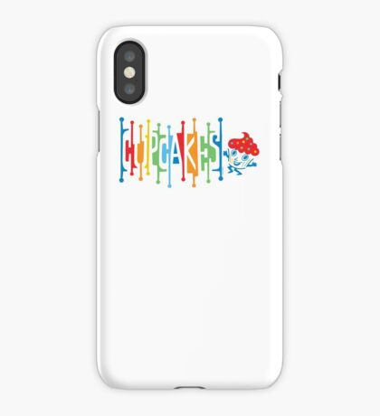 Retro Cupcakes - on lights iPhone Case