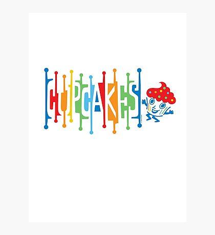 Retro Cupcakes - on lights Photographic Print