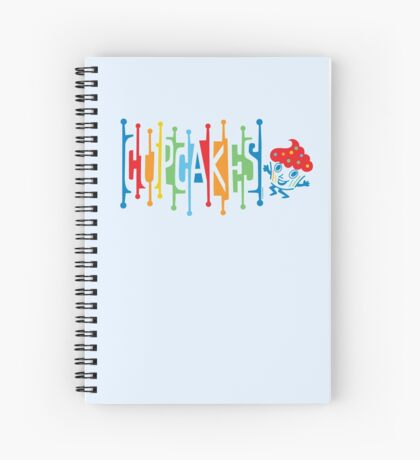 Retro Cupcakes - on lights Spiral Notebook