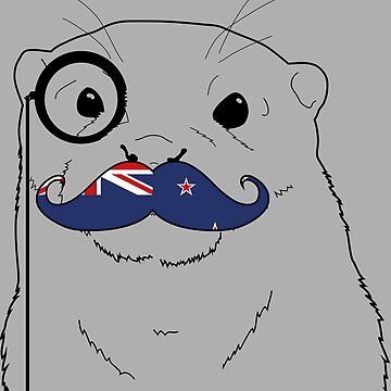 Mustache Flag New Zealand by otterglot