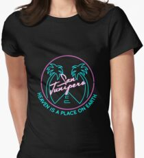 "San Junipero ""Heaven Is a Place on Earth"" Womens Fitted T-Shirt"